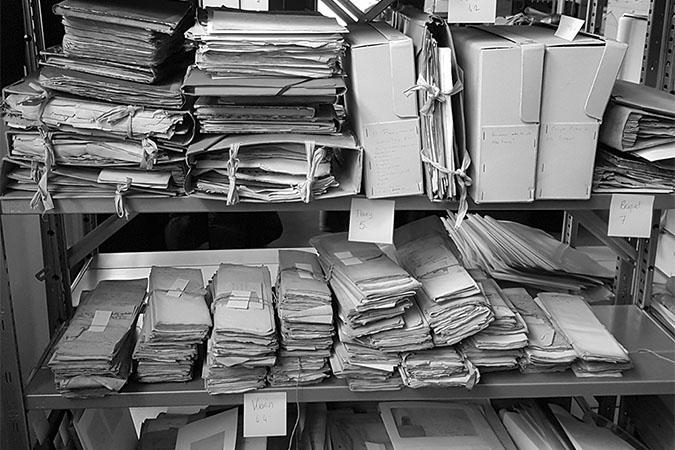 Classification et tri d'archives - Vicariat, Genève